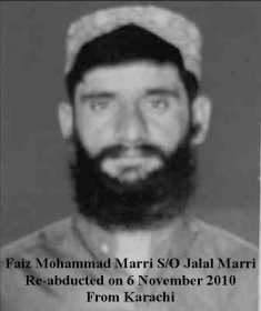 Faiz Mohammad Marri abducted by Pakistani Forces