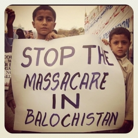 Baloch are protesting against on going genocide